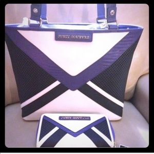 🎉🎉2XHP Juicy Couture Colorblock Leather Tote Set
